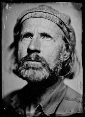 Selbstportrait- Portrait auf Kollodium Nassplatte - Fotograf Thilo Nass Silberbilder