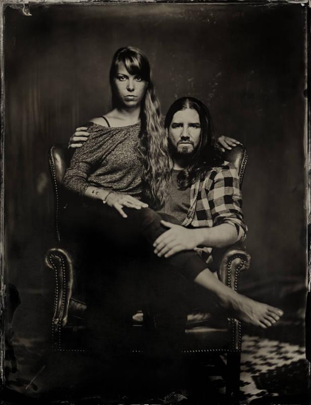 young couple Portrait auf Kollodium Nassplatte - Fotograf Thilo Nass Silberbilder